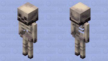 Remaking Vanilla Skeleton Minecraft Mob Skin
