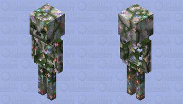 Overgrown Skeleton (Flower Version) HD Minecraft Mob Skin