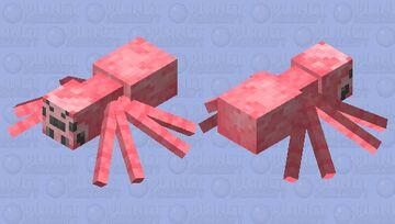 Pink Spider Minecraft Mob Skin