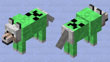wolf with creeper hoodie Minecraft Mob Skin