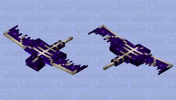 Purple end sculk phantom Minecraft Mob Skin