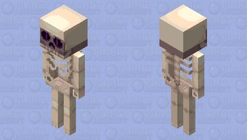 Spooky skeleton (preview isn't working, check description) Minecraft Mob Skin