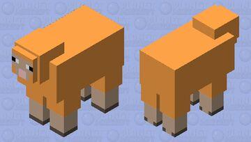Simplified Sheep(Orange Minecraft Mob Skin
