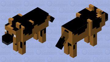 German Shepherd Dog Minecraft Mob Skin