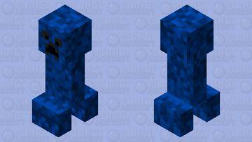 Blue Creeper Minecraft Mob Skin