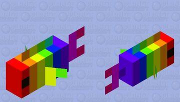 Little Rainbow fish Minecraft Mob Skin