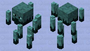 Prismarine Blaze Minecraft Mob Skin