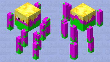 Neon Blaze Minecraft Mob Skin