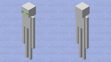 White enderman Minecraft Mob Skin