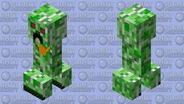 rich creeper Minecraft Mob Skin