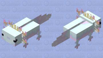mermaid axolotl Minecraft Mob Skin