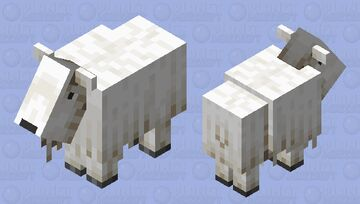 goat that rammed the wall and lost its horns Minecraft Mob Skin