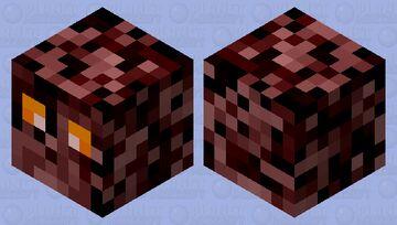 netherrack cube Minecraft Mob Skin