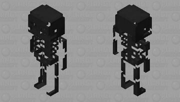 Enderman skeleton / skeleton / V.2 / original versión / for Swap Dimensions Minecraft Mob Skin