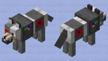 Cyber The Cyborg Dog Minecraft Mob Skin