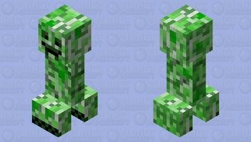 Smiling Creeper Minecraft Mob Skin