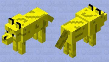 Gold Wolf Minecraft Mob Skin