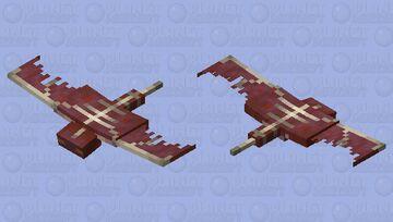 Phantom rojo Minecraft Mob Skin