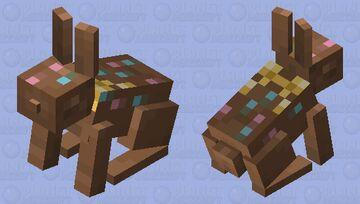 Chocolate Bunny Minecraft Mob Skin