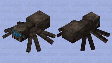 Spider blue eyes Minecraft Mob Skin