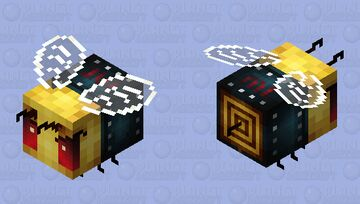 Rocker bee Minecraft Mob Skin