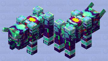 Azure Ravager Minecraft Mob Skin