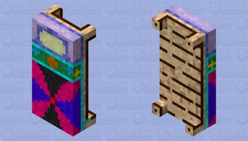 Colorfull Bed Minecraft Mob Skin