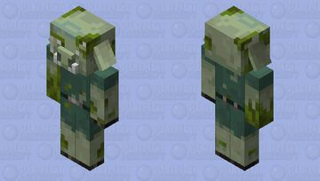 Lobber Zombie Piglin Minecraft Mob Skin