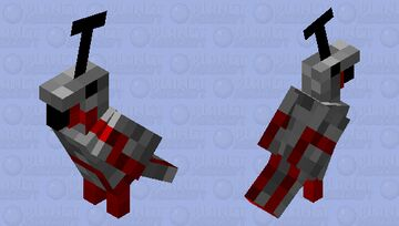 redstone parrot Minecraft Mob Skin