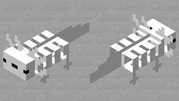 An axolotls skeleton Minecraft Mob Skin