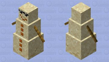 Sandman (Sand Snowman) Minecraft Mob Skin