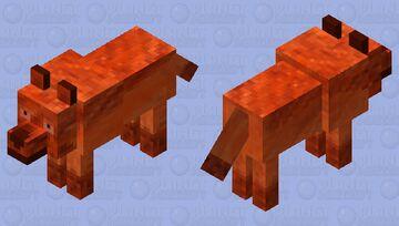 Fire wolf Minecraft Mob Skin