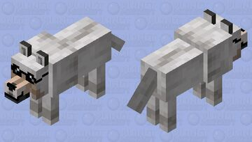 Wolf With Glasses Minecraft Mob Skin