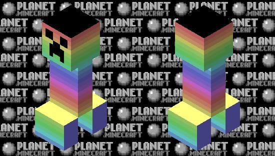 Rainbow creeper Minecraft Skin