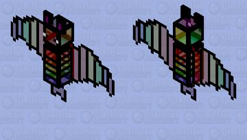 Stained glass bat Minecraft Mob Skin