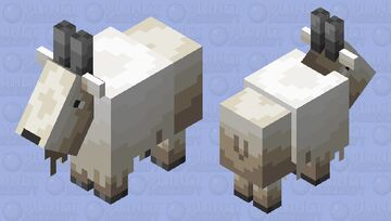 Goat but Shaded by Me Minecraft Mob Skin
