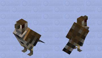 Cactus wren (Campylorhynchus brunneicapillus) Minecraft Mob Skin