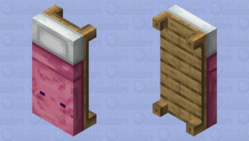 Axolotl Bed (pink) Minecraft Mob Skin