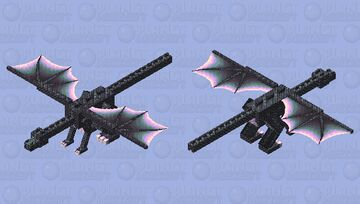 Blackstone dragon.the last Nether dragon Minecraft Mob Skin
