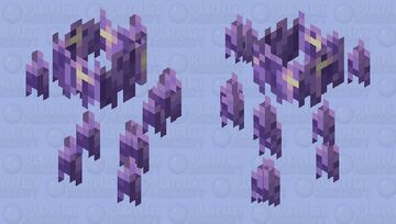The Hovering Crystalline ( Amethyst Blaze ) Minecraft Mob Skin