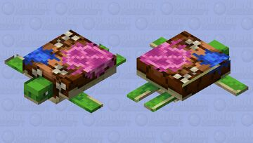 Reefback Sea Turtle Minecraft Mob Skin