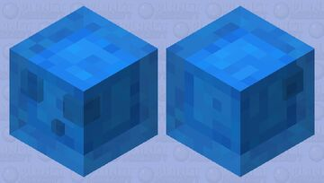"""water slime / from the new dungeons DLC """"Hidden Depths"""" Minecraft Mob Skin"""