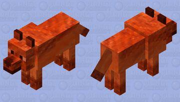 Fire wolf 2 Minecraft Mob Skin