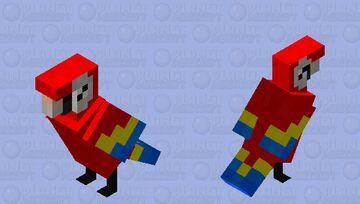 Scarlet Macaw (irl) Minecraft Mob Skin
