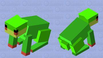 Rabbit to Frog Minecraft Mob Skin