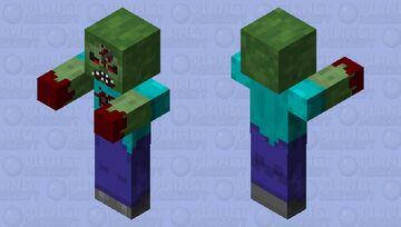 Spooky zombie Minecraft Mob Skin