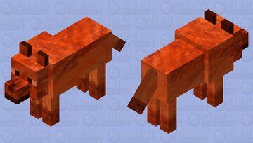 Fire wolf 3 Minecraft Mob Skin