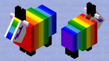 rainbow goat Minecraft Mob Skin