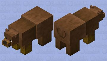 grizzly bear / honey in the mouth Minecraft Mob Skin