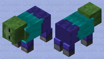 Sideways Zombie Minecraft Mob Skin